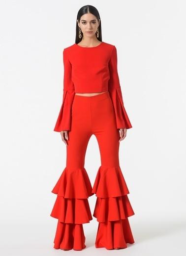 Esra Gürses Pantolon Kırmızı